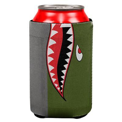 Halloween WWII Flying Tiger Fighter Shark Nose Art All Over Can Cooler](Tiger Nose Halloween)
