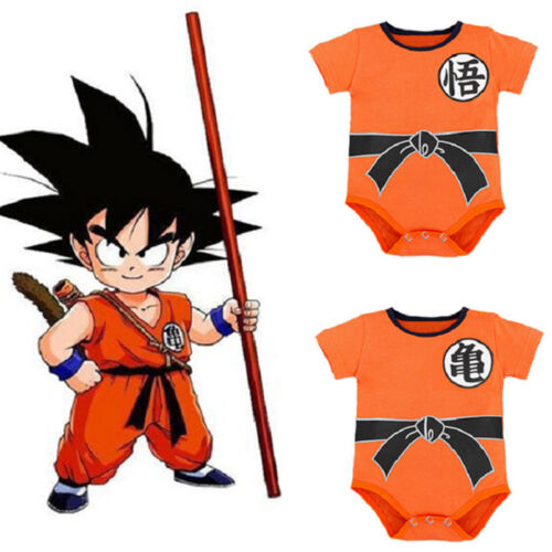 Neugeboren Baby Infant Jungen Mädchen Dragon Ball Goku Strampler Romper Kleidung