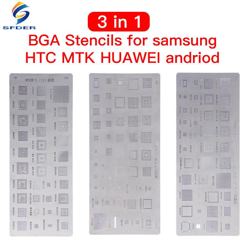 Universal BGA Stencils For MTK Samsung HTC Huawei Android Reballing Stencils Kit