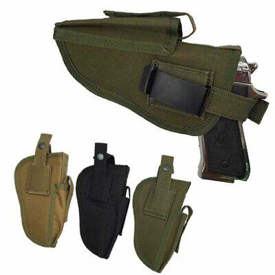 Military Tactical Pistol Holster Magazine Waist Belt Hand Gun Holder Universal