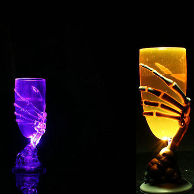 Glowing Skeleton - Glowing Wine Cup Claw Party Spooky Skeleton SKull Halloween Goblet LED Scary New