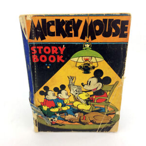 Mickey Mouse Story Book Antique 1st Edition 1931 Walt Disney