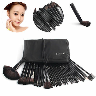 VANDER Fashion 32pcs Black Beauty Makeup Brushes Eyeshadow Contour Brush Set