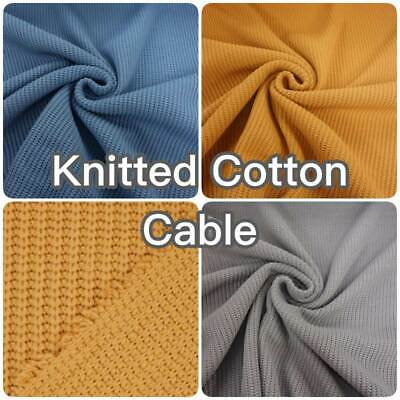 Knitted Cotton Cable Home Decor Blanket Sweater Fashion Dress Making Fabric