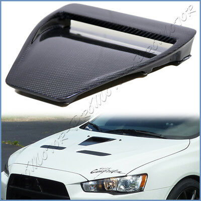 For 08-15 Mitsubishi Lancer EVO 10 Carbon Fiber Front Center Intake Engine Cover for sale  Shipping to Canada