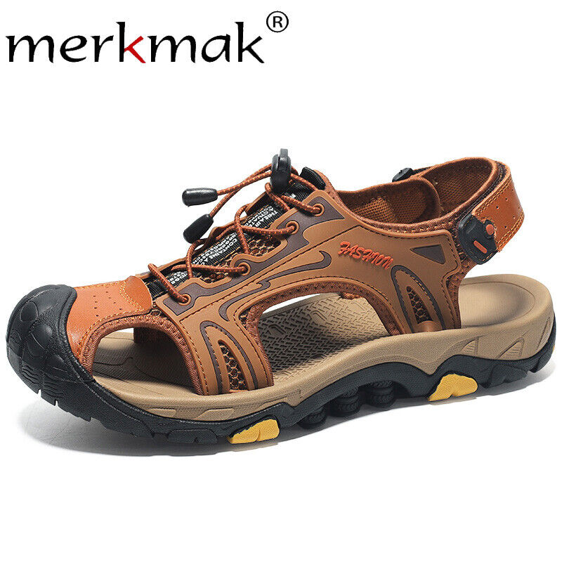 Summer Elastic Band Sandals Men Breathable Casual Male Leath