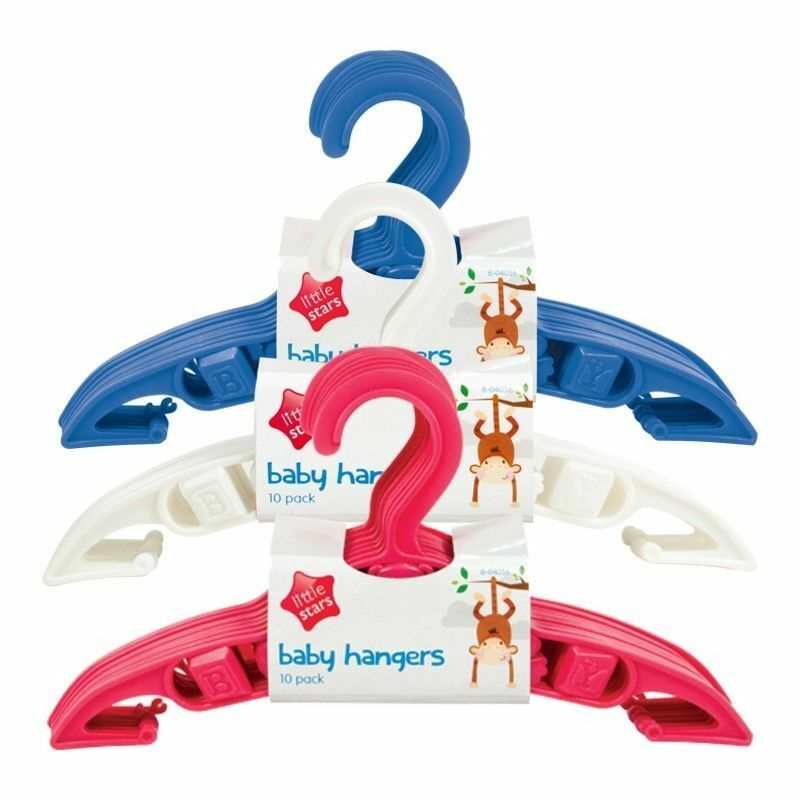 BABY CLOTHES HANGERS Coat Trouser Toddler Children Kids Plastic Space Saver Slim