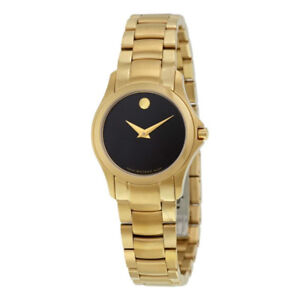 Movado Yellow Gold Stainless Steel Ladies Watch 0607027