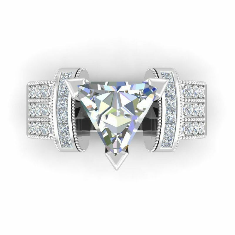 New Fashion Jewelry 925 Silver Large Oval Cut Aquamarine Ring Women Ring Sz 6-10