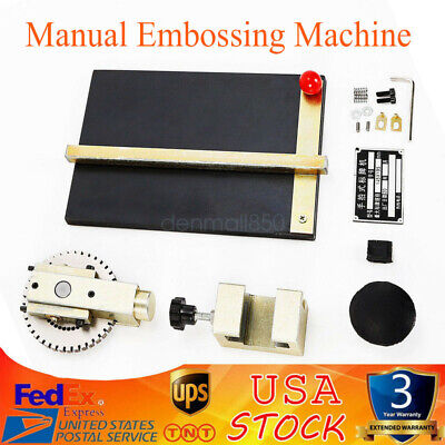 Manual Metal Label Machine Embosser Alphanumeric Plate Stamping Dog Tag Printer