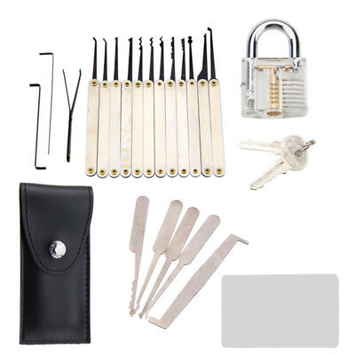 12pcs Lock Padlock Picking Kit Traing Key Extractor 5pcs Credit Card Locksmith