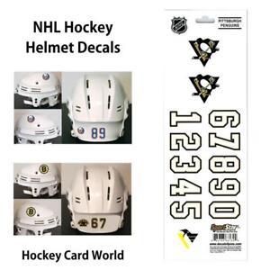 (HCW) Pittsburgh Penguins NHL Hockey Helmet Decals Sticker Sheet *FREE SHIP