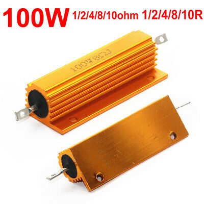 1ohm2ohm4ohm8ohm 8r 100w Watt Power Metal Resistor F Tube Amp Test Dummy Load