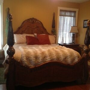 Solid Wood King Size Bedroom Set