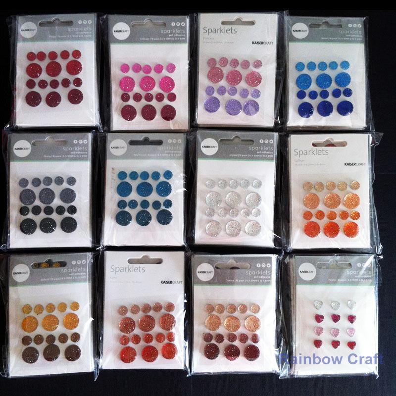 kaisercraft Bling Sparklets / Self Adhesive Rhinestones crystal ebony hearts