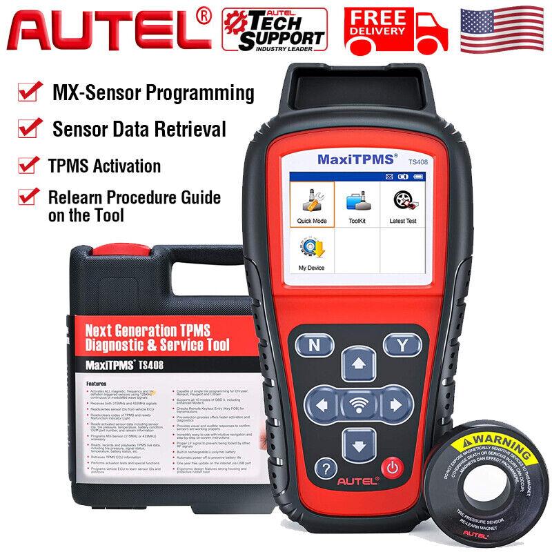 Autel TS408 MaxiTPMS Tire Pressure Sensor TPMS Program Diagnostic Scanner Tool