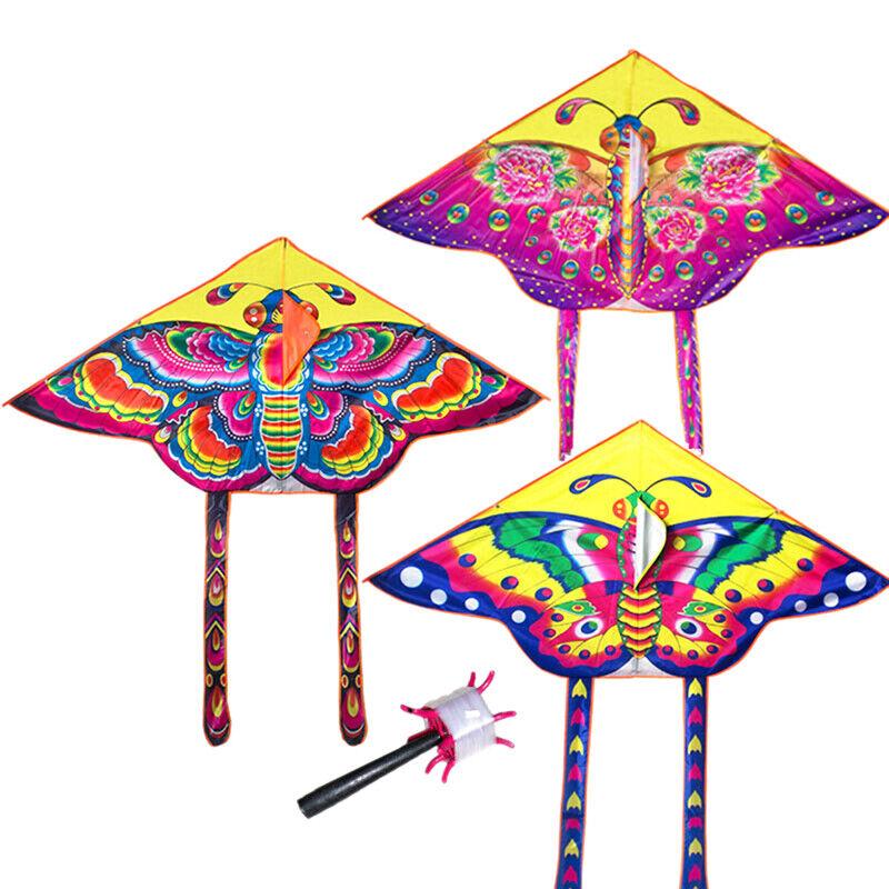 90cm Single Line Novelty Animal Huge Butterfly Kites Toys Fo