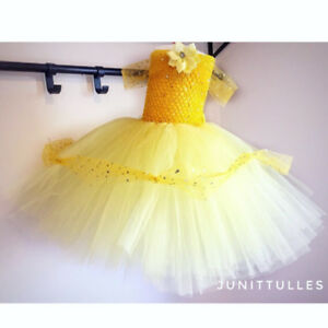 Yellow Tutu dress/flower girl dress 12-18months old