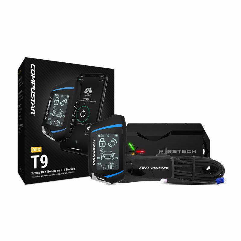 COMPUSTAR RFX-2WT9-FM 2-Way LCD T9 RF REMOTE w. DR-X1 DRONE KIT