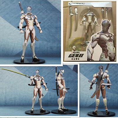 Cartoon game OverWatch Shimada Genji Death Blossom PVC Action Figures toy 25cm