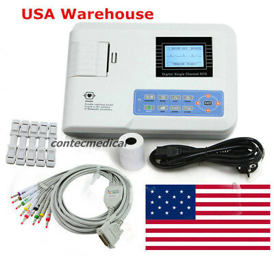 Digital Single Channel 12-lead Ecgekg Machine Electrocardiograph Fda Us Seller