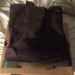 Chocolate brown suede Dr Martens. Size 6. Brand new in box.