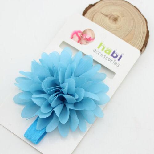 10Pcs Newborn Girls Baby Toddler Chiffon Flower Kids Hair band Headband Headwear