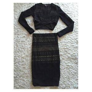 Two piece mesh skirt set worn once Small $10