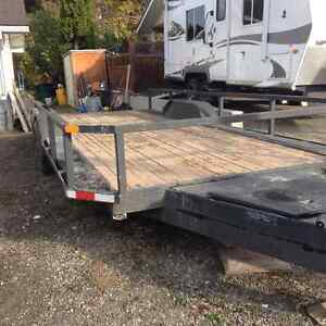 20ft Flat Deck trailer, 10,000 lb rated.