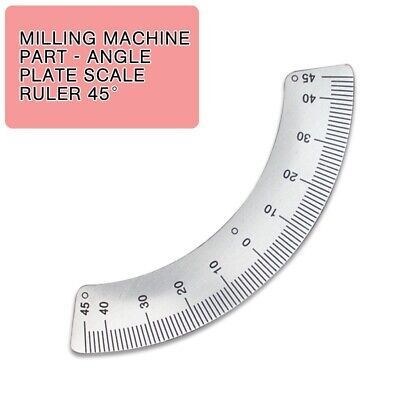 Milling Machine Part Angle Plate Scale Ruler 45 Angle Arc Inner Radius 67mm