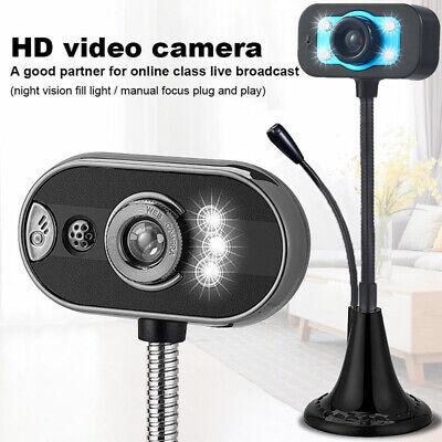 USB 2.0 HD Web Cam Camera Webcam con Microphone per Computer Laptop Desktop