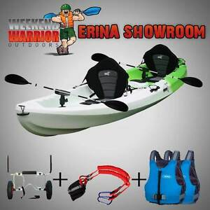 Double Fishing Kayak Package Life Jackets Trolley Triple Seater Erina Gosford Area Preview