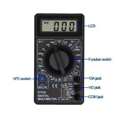 New Craftsman Digital Multimeter Voltmeter Meter Tester Dc Ac Volt Ohmmeter