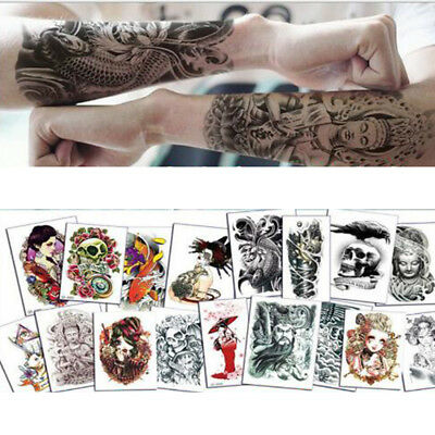 40 Pattern Art Men Women Arm Large Temporary Body Fake Tatoos Waterproof - Temporary Tatoos