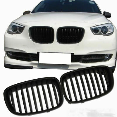 2X Front Bumper Kidney Grilles For 09-16 BMW F07 Gran Turismo 5-Series Black