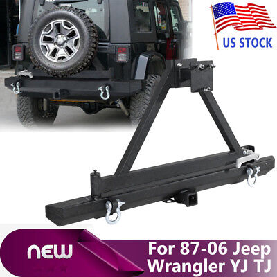 For 87-06 05 Jeep Wrangler YJ/TJ Rock Crawler Rear Bumper and Tire Carrier Swing for sale  USA