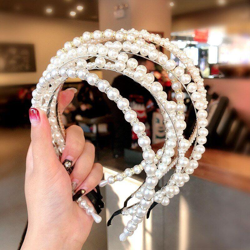 Hair Hoop Wide Crystal Bow Hairbands Head Wrap Boho Turban Headband