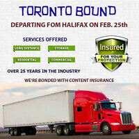 LONG HAUL TORONTO BOUND - DEPARTING FEB 25th (BOOK NOW)