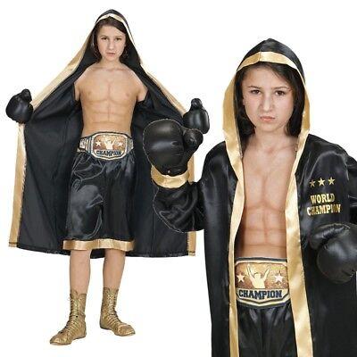 Boxer Kinder Kostüm Gr. 140 - 4tlg. Set World Champion - Karneval Fasching #9297
