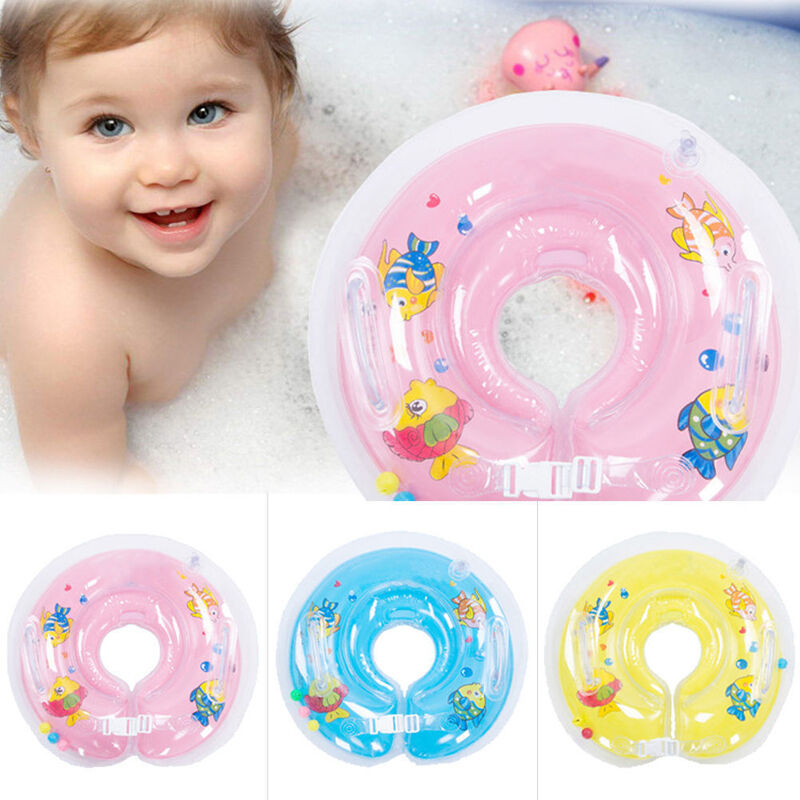 BABY SWIMMING NECK Float Infant Bath Ring Adjustable Safety Aids For ...