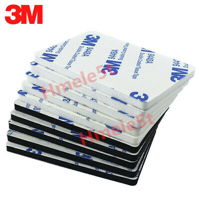Double Stick Foam Tape (5PCS 3M 60*80*1.5mm Rectangle Double-sided Adhesive Stick Strong White Foam)