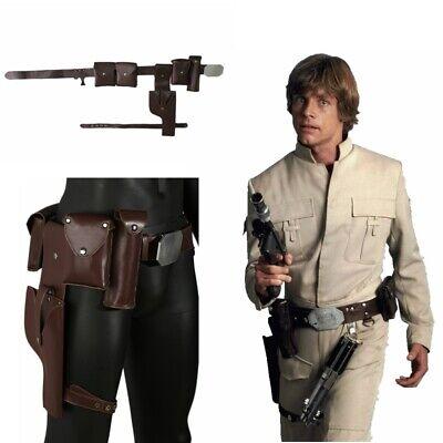Costume Gun Holster (Star Wars Luke Skywalker Brown Belt Adjustable Cosplay Costume Prop Gun)