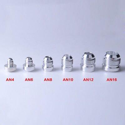 Various AN Male Weld Bungs Fitting Adaptor Weld Bare Connector Billet Aluminum  Aluminum Adapter Weld Fitting