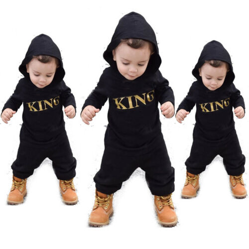 US Newborn Infant Baby Boy Kid King Romper Jumpsuit Bodysuit