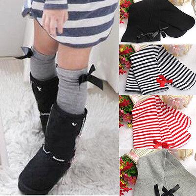 Bowknot Autumn Winter Baby Girls Children Leg Warmers Cotton Stockings  mt