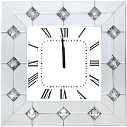 ACME Hessa Square Mirrored Wall Clock