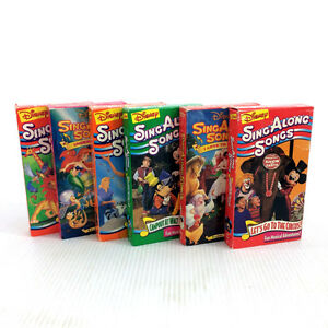 6 Disney Sing Along Songs VHS Video Tapes Lion King Mickey