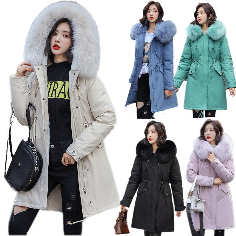 Winter Women Outerwear Bomber Jacket Faux Fur Plush Coat Velvet Baseball Overcoa