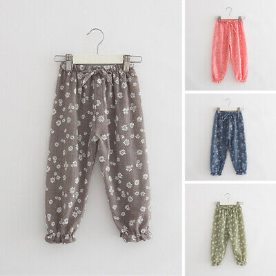 Hot 4 Styles Kids Girl Baby Leggings Flower Floral Printed Pants Leging Trousers - Hot Girl Leggings