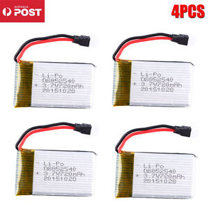 NEW 4pcs For Syma X5C X5 Quadcopter RC Helicopter 3.7V 720mAh Upgrade Battery AU